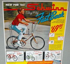 Schwinn Sting-Ray FastBack. Banana seat. 5-speed shifter. (1966) Got one of these and thought I died and went to heaven.