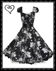 Vintage Floral Swing Dress Sz 8 10 Rockabilly Retro Party 1950s s Med New | eBay