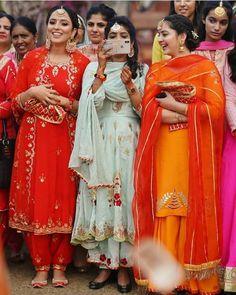 Image may contain: 6 people, people standing Punjabi Suits Designer Boutique, Punjabi Suit Boutique, Indian Designer Suits, Indian Suits, Indian Attire, Indian Dresses, Indian Wear, Boutique Suits, Embroidery Suits Punjabi