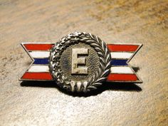 """WWII Production Award Pin WWII Homefront Pin WWII Sterling Pin - 3/8"""" X 1 1/4"""" - Nice Find! by EagleDen on Etsy"""