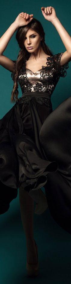 Rochie Cristallini Limited Edition  #black #long #formal #dress