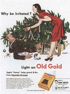 Vintage Ad for Old Gold cigarettes - Haha this one is so funny to me