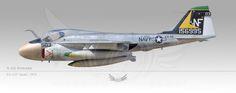 """A-6A Intruder, VA-115 """"Arabs"""", 1973"""