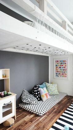 Cool setup for a kids room!