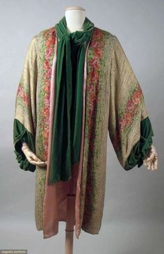 Printed Gold Lame Opera Coat, C. 1925, Augusta Auctions, November 10, 2010 - St. Pauls - NYC, Lot 289