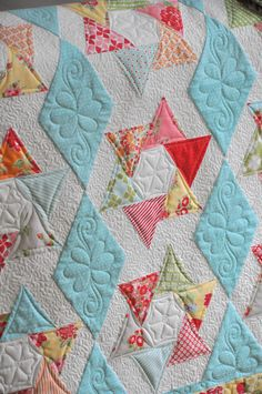 interesting block, lovely quilt by Heather Peterson
