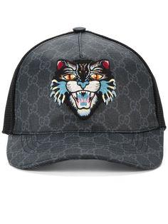GUCCI GG Supreme Angry Cat baseball cap.  gucci  cap b74aed5461fc