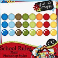 School Rules Plaid Photoshop Styles