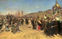 Krestny Khod (Religious Procession) in Kursk Gubernia - Ilya Repin