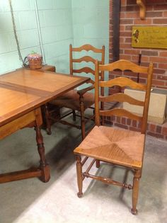 Chair And Trestle Table