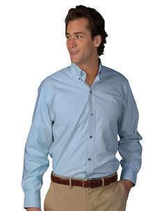 Edwards soft woven poplin shirt has a button down collar with matching buttons. One pocket on the left chest and a back box pleat. Enjoy fresh protection with AP-360™ antimicrobial fabric shield that prevents odor and ensures freshness. This easy care men's shirt is fade, wrinkle and shrink resistant. It is made from a blend of excellent-quality fabrics making it durable yet very comfortable to wear. Great for restaurants, customer services and more.