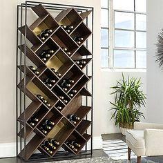 Laiton Brass Wood And Iron Wine Rack - Wine Enthusiast Wine Rack Storage, Wine Rack Wall, Wine Wall, Wine Bottle Storage, Wine Bottle Rack, Wine Rack Cabinet, Bottle Stoppers, Bottle Holders, Bottle Opener