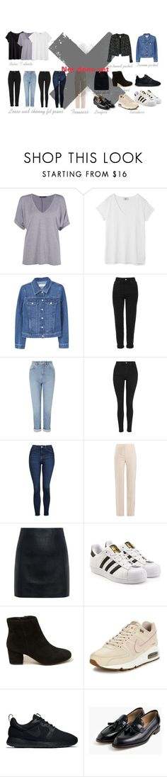 """""""The basics"""" by ida-kruse-knudsen on Polyvore featuring H&M, Boohoo, Hush, MANGO, Topshop, Miss Selfridge, Givenchy, McQ by Alexander McQueen, adidas Originals and Hollister Co."""