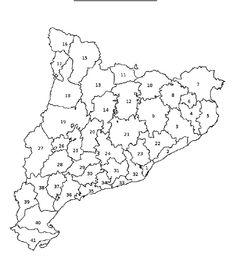 Localitza les comarques de Catalunya a un mapa mut | Scribd