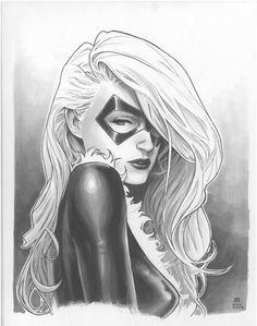"comic-book-ladies: ""Black Cat by Jim Cheung "" Comic Book Girl, Comic Book Artists, Comic Book Characters, Comic Artist, Comic Character, Comic Books Art, Marvel Characters, Marvel Girls, Comics Girls"