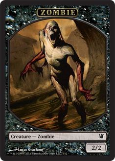 Magic: the Gathering - Zombie Token A - Innistrad @ niftywarehouse.com #NiftyWarehouse #Zombie #Horror #Zombies #Halloween
