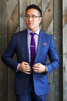 Grey tux, purple tie | Danielle's Wedding | Pinterest | Gray tux ...