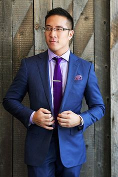 pocket square for navy suit - Google Search | [Fashion] They make ...