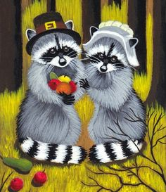 Raccoon Pilgrims. Why not?