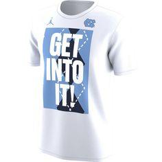 Jordan Men's North Carolina Tar Heels 'Get Into It!' Bench Legend T-Shirt, Team