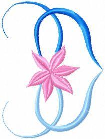 Flower Heart free machine embroidery design. Machine embroidery design. www.embroideres.com