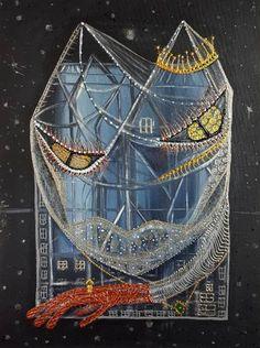 "Saatchi Art Artist Maria Marachowska; Painting, ""NIGHT CAT"" #art"