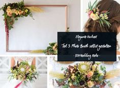 Make Photobooth in Blush and Burgundy – Elegant Wedding Part 3 - Wedding Decorations 2019 ideas Diy Wedding Garland, Floral Wedding Decorations, Wedding Centerpieces, Wedding Flowers, Picture Frame Arrangements, Floral Arrangements, Photobooth Frame Diy, Flower Archway, Color Schemes Colour Palettes