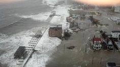 This photo provided by 6abc Action News shows the Inlet section of Atlantic City, N.J., as Hurricane Sandy makes it approach, Monday Oct. 29, 2012. Sandy made landfall at 8 p.m. near Atlantic City, which was already mostly under water and saw a piece of its world-famous Boardwalk washed away earlier in the day.