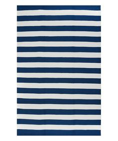 Love this Blue & White Nantucket Indoor/Outdoor Rug
