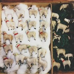 Wonderful Putz sheep! Hard to find, expensive to buy!