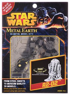R2-D2 Star Wars 3-D Sculpture Kit by Metal Earth Fascinations, Home Decor, Silver