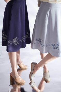 Mer-Cat Cadence Skirt (Mist Blue) - misspatina.com