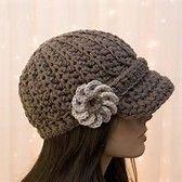 Image result for Women's Crochet Newsboy Hat Pattern