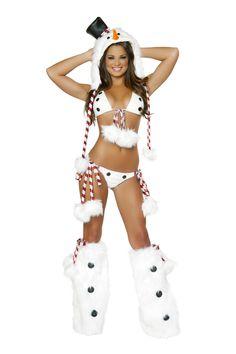 Every snowman needs a snowbunny #sexy #halloween #costumes #loverslane http://www.loverslane.com/Costumes/