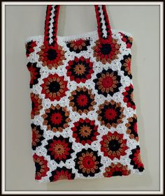 Diaper Mum : My Hex-Tote (pattern tutorial: http://www.futuregirl.com/craft_blog/labels/the%20hex%20crochet-a-long.aspx)
