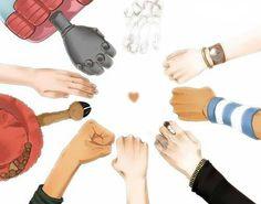 One Piece ~ Straw Hats Pirates -- Franky, Brook, Nami, Usopp, Sanji, Luffy, Zoro, Chopper, Robin