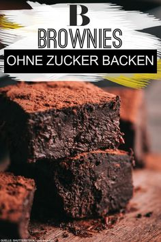 brownies without sugar - with this ingredient - Bake brownies without sugar – with this ingredient. Brownies without sugar are no longer a dream! -Bake brownies without sugar - with this ingredient - Bake brownies without sug. Keto Friendly Desserts, Low Carb Desserts, Healthy Desserts, Healthy Cake, Healthy Brownies, Easy Cookie Recipes, Cupcake Recipes, Baking Recipes, Baking Hacks