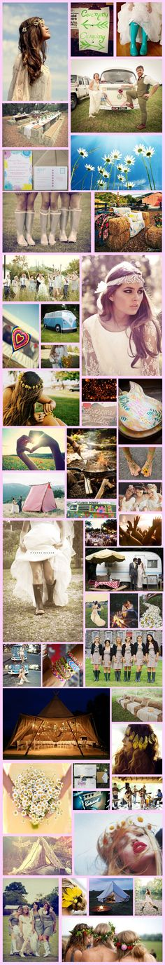Wednesday Wedding Inspiration: Festival Themed Wedding! on Bespoke-Bride.com
