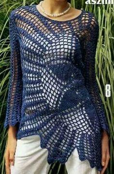 blauer pulli