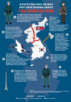 Lots of people hear about the Korean DMZ, but don't know many facts (or which Korea is which). Here are 8 Korean DMZ facts to get you a little better familiarized with this area that is well...
