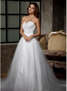 Wedding Dresses - $180.99 - Ball-Gown Sweetheart Chapel Train Satin Tulle Wedding Dress With Ruffle Lace Beading  http://www.dressfirst.com/Ball-Gown-Sweetheart-Chapel-Train-Satin-Tulle-Wedding-Dress-With-Ruffle-Lace-Beading-002011676-g11676