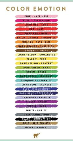 colour and emotion -great resource for choosing project colors.