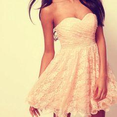 Flirty little dress.