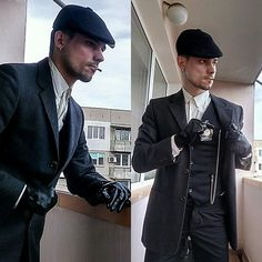 Get this look: http://lb.nu/look/8998916  More looks by Dean Simon: http://lb.nu/deansimon  Items in this look:  Emporio Armani White Shirt, Cesare Cotton Vintage Coat, Replay Black Vest, H&M Silk Pants   #in #chic #classic #elegant #peakyblinders #gangster #1930 #vintage #classy