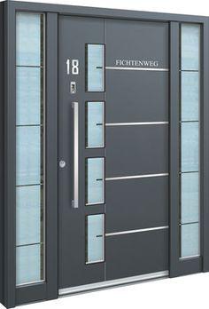 Captivating Aluminium Haustür Neubodendorf Eine #Aluhaustür Mit Zwei Seitenteilen Und  Satiniertem 3 Scheiben Sicherheitsglas