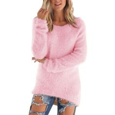 Autumn Winter Women's O-Neck Sweater Female Hedging Loose Pullover Casual Solid Sweaters