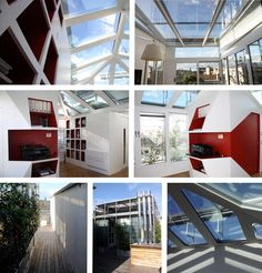 An office of 80square metres on the roof of an  historical building in the centre of Milan  - project by stefania boiano