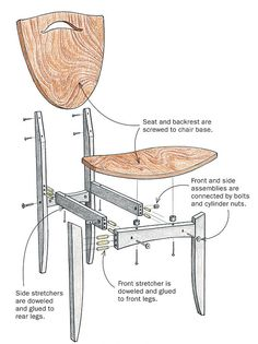 chair assembly drawing - Google Search