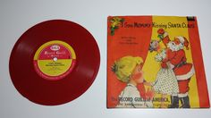 Vintage Record Guild of America I Saw Mommy KIssing Santa Claus Vinylite by CowsintheFog on Etsy Baby Boom, Vintage Records, Kids Songs, I Saw, Kissing, Fans, Relax, America, Children