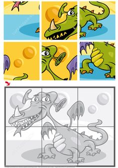6 Piece Jigsaw Puzzle with a Dragon Puzzle games Jigsaw Puzzles For Kids, Mazes For Kids, Printable Puzzles For Kids, Free Online Jigsaw Puzzles, Puzzle Games For Kids, Puzzles For Toddlers, Maths Puzzles, Preschool Activities At Home, Educational Games For Kids
